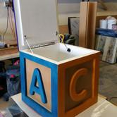 LA Childrens Hospital Wooden Custom Toy Boxes