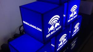 Red Bull Branded Light Cubes Video
