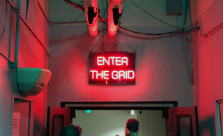 Adidas ENTER THE GRID Neon Sign