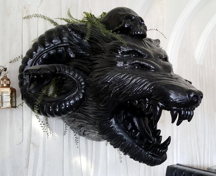 Kindred Vegan Restaurant San Diego CA Giant Wolf Custom Decorative Sculpture made by Kihl Studios.jpg