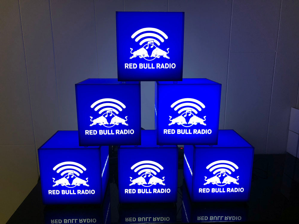 Red Bull Radio Branded Light Cubes
