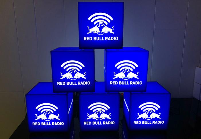 Red Bull Radio Branded Light Cubes