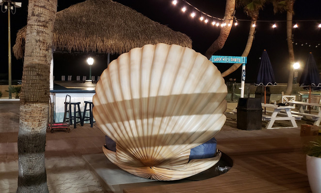 The Beach House Grill San Diego CA Glowing Clamshell Seating