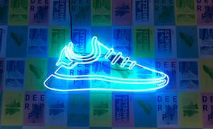 Adidas Neon Shoe Custom Signage