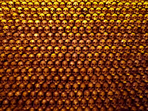 The Noble Experiment San Diego CA Gold Skull Decor