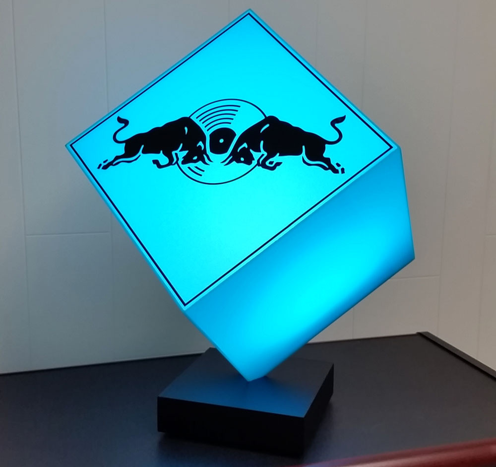 Red Bull Music Blue LED Cube