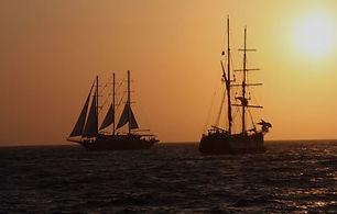 Volcanic sunset cruise