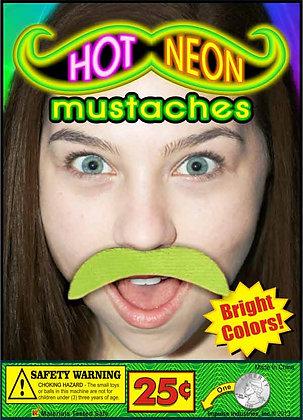 Neon Mustaches