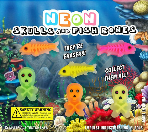 Neon Skulls & Fish Bones