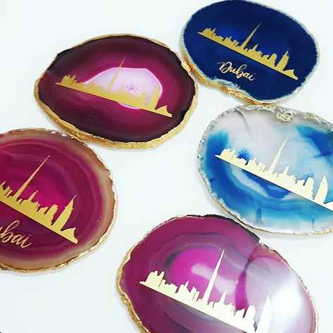 Some of the Dubai Skyline Agates that we