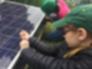 Girls developing solar and wind energy skills
