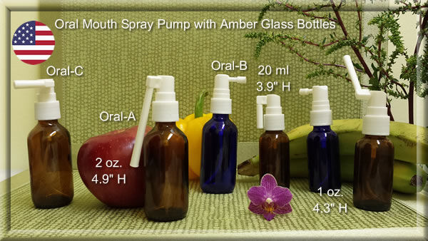 mouth-oral-spray-pump-with-amber-blue-gl