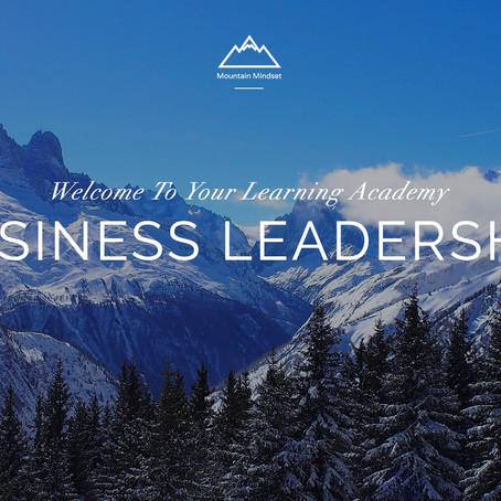 Announcing the Mountain Mindset Leadership Academy
