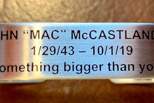 "JOHN ""MAC"" McCASTLAND Bracelet"
