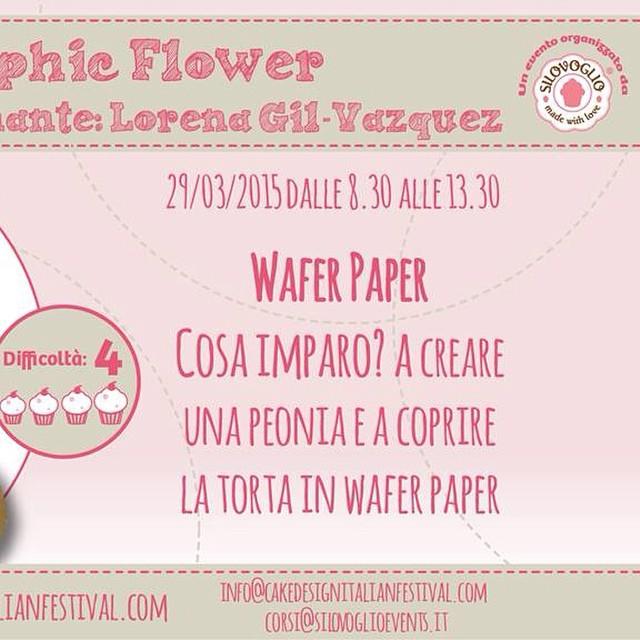 Il mío corso al #cakefestival #milano impariamo a fare un fiore in w