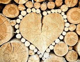 Heart shped Wood