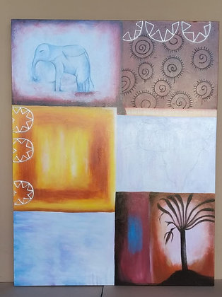 Abstract Africa Painting