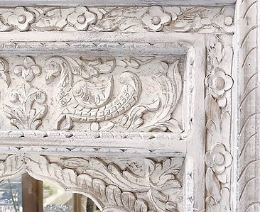 Hnad carved Mirror
