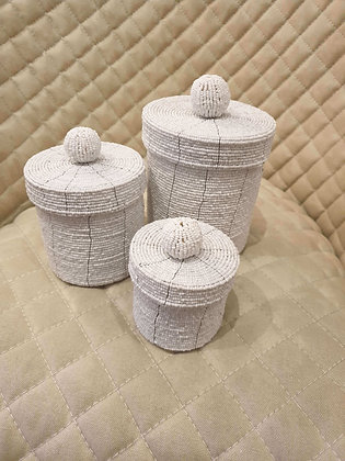 Set of 3 Beaded Nesting Baskets