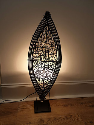 Rattan shield lamp