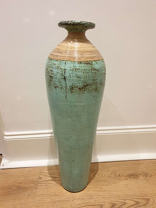 Large Painted Terracotta Pot
