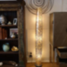 Capiz tall floor lamp 200cm