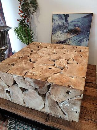 Block Teak wood Coffee table