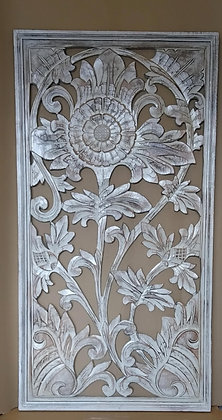 Flower Carved Wall Plaque
