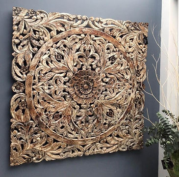 Hand carved wall art