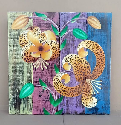 4 Panel Lily Plaque