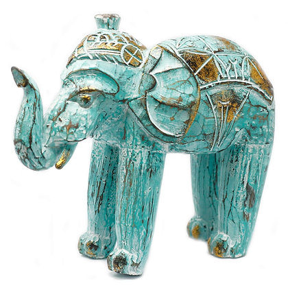 Elephant hand carved turquoise