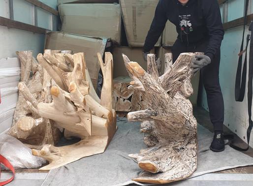 Teak wood arrivals