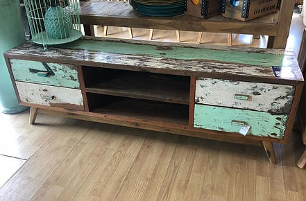 Boatwood tv stand