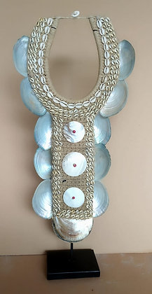 Tribal Shell Necklace On Stand