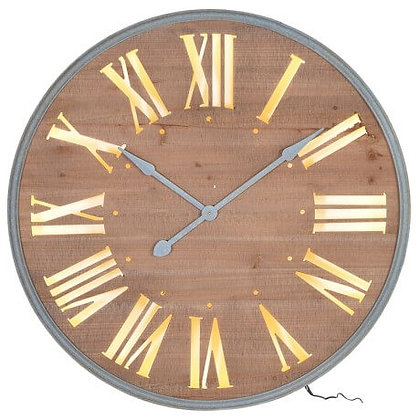Large Lit Up Wall Clock
