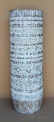 Tribal Carved Palm Vase