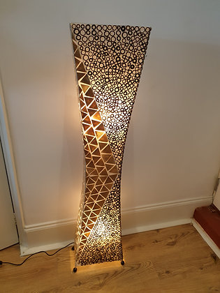 Gold Shell & Bamboo Rings