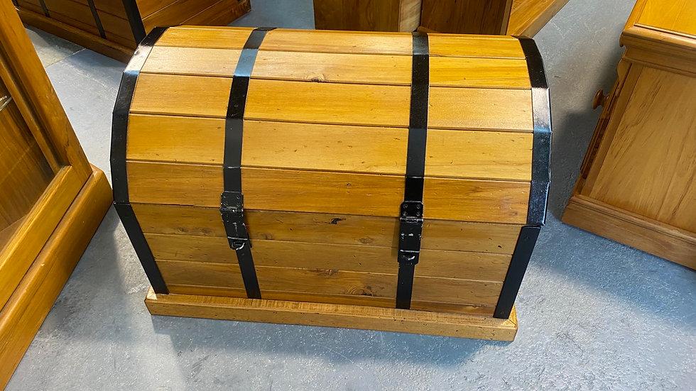 Funky solid rimu blanket box!