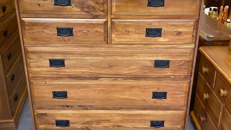 Woodpecker solid recycled rimu 8 drawer scotch chest!