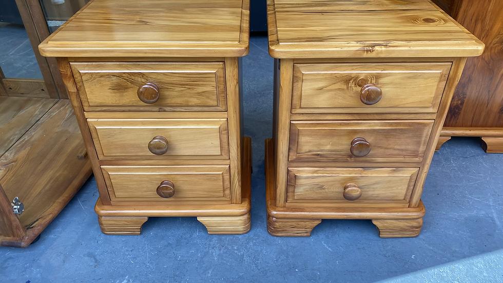 Millbrook Jamestown solid rimu 3 drawer bedsides!