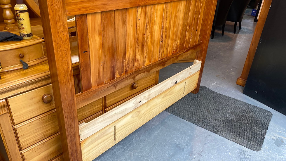Solid recycled rimu Queen headboard!