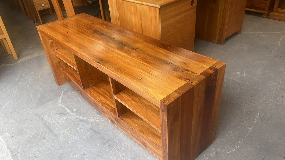 Solid recycled rimu entertainment unit!