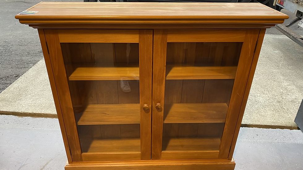Solid rimu display cabinet!