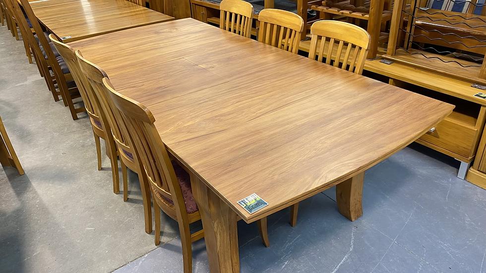 Molloy Furniture - solid rimu 7pcs extendable dining suite!