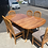 Thumbnail: Rimu table top  7pcs extendable dining suite with Rubberwood Chairs