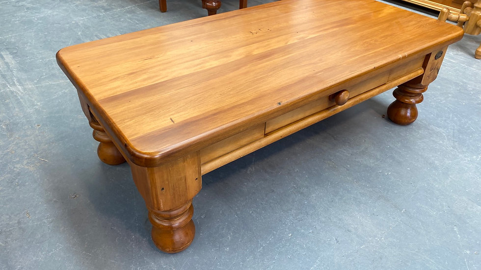 Solid recycled rimu coffee table by woodpeckers!