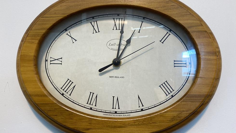 Lull-a-bye oval clock!