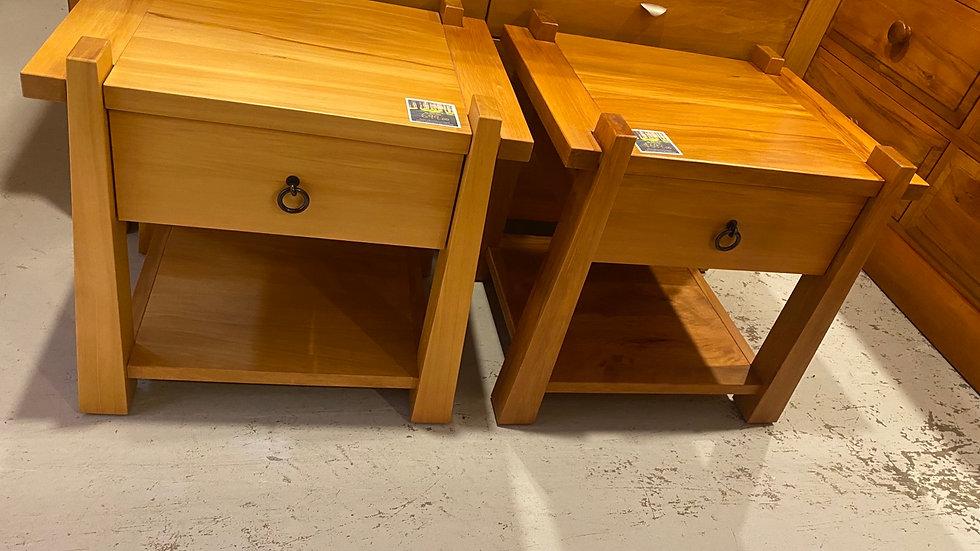 Design Mobel - Ironbark Single Bedside Cabinets