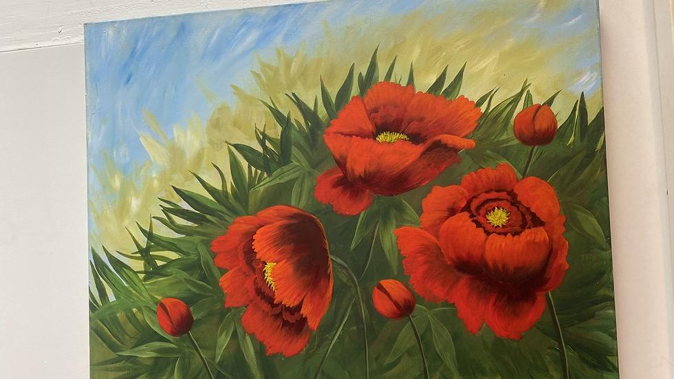 Poppie painting!