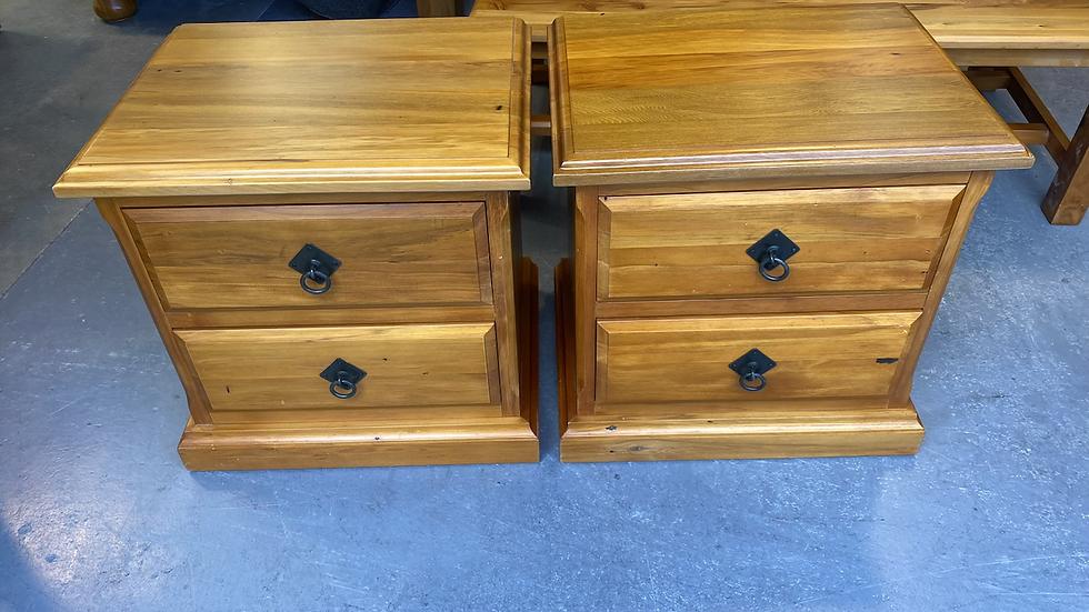Horizon solid rimu 2 drawer bedsides!